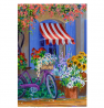 Toland Home Garden Bloomin' Bike 28 x 40 Inch Decorative Colorful Spring Summer Bicycle Flower House
