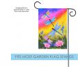 Toland Home Garden Dusk Dragonflies 12.5 x 18 Inch Decorative Colorful Spring Summer Dragonfly Flowe