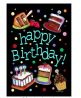 Toland Home Garden Happy Birthday Cake 28 x 40 Inch Decorative Party Double Sided House Flag