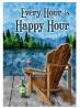 Toland Home Garden Happy Hour Lake 12.5 x 18 Inch Summer Vacation Wine Decorative Garden Flag