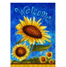 Toland Home Garden Sweet Sunflowers 28 x 40 Inch Decorative Summer Welcome Flower Double Sided House