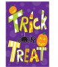 Toland Home Garden Tricks and Treats 12.5 x 18 Inch Decorative Colorful Halloween Candy Garden Flag