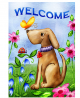 Toland Home Garden Welcome Dog 28 x 40 Inch Decorative Cute Puppy Spring Summer Double Sided House F