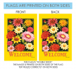 Toland Home Garden Yellow Welcome Bouquet 28 x 40 Inch Decorative Spring Summer Flower Double Sided