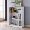 Toponeware IDUS11202678 Contemporary Style Bookcase with 3 Open Shelves in White Oak