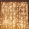 Twinkle Star 300 LED Window Curtain String Light Wedding Party Home Garden Bedroom Outdoor Indoor Wa