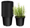 UDWELLS Garden Round Square Plastic Flower Pots For Indoor Nursery Plants