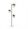 Umbra Floristand Planter, Freestanding Plant Storage, White/Natural