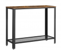 VASAGLE Console Table, Sofa Table, Metal Frame, Easy Assembly, for Entryway, Living Room, Rustic Bro