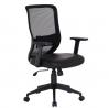 VECELO Office Computer Desk Chair with PU Padded Seat Cushion, Adjustable Armrest, Ergonomic Lumbar