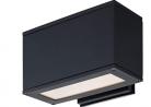 VidaLite Modern Sleek Exterior LED Rectangular Wall Light 3000K 1400 Lumens for Outdoor Home Garden