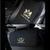 VIP Premium Black Car Seat Covers Mat Lion Gold Stitch Logo for All Motors Auto Vehicle Seatcover (1