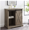 Walker Edison Abbey Modern Farmhouse Sliding X Barn Door Accent Console, 32 Inch, Grey Wash