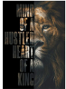 Wall Canvas Art Painting Lion with Inspirational Words Posters and Prints on Canvas Art for Living R