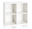Way Basics Eco Stackable Quad Cube 4 Cubby Storage Shelf Organizer (Tool-Free Assembly and Uniquely