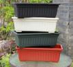 Wholesale home garden terracotta rectangle outdoor plastic large plant pots