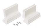 Zenna Home 9319WKT Kit Leg Extension, White