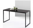 ZINUS Jennifer 55 Inch Black Frame Desk / Computer Workstation / Office Desk / Easy Assembly, Deep E