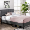 ZINUS Lottie Upholstered Platform Bed Frame / Mattress Foundation / Wood Slat Support / No Box Sprin