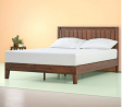 Zinus Vivek 12 Inch Deluxe Wood Platform Bed with Headboard / No Box Spring Needed / Wood Slat Suppo