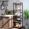 Homfa 5-Tier Corner Shelf, Free Standing Ladder Shaped Plant Flower Stand Rack Bathroom Storage Towe
