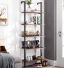 HOMFA 5-Tier Industrial Ladder Shelf Against The Wall, 72.6 Inches Display Storage Rack Plant Flower